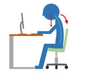 パソコン作業中の首