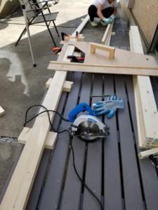 ③木材を切る